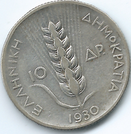 Greece - Republic - 1930 - 10 Drachmai - KM72 - Greece