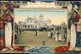 1908 Grande Bretagne Franco-British Exhibition London Expo Franco Britannique Sur Carte Postale - 778 - 1902-1951 (Rois)