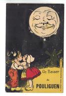 CPA 44 LE POULIGUEN Carte à Système Dépliant Vues Humour Coupe Baiser Lune Pas Courante - Le Pouliguen