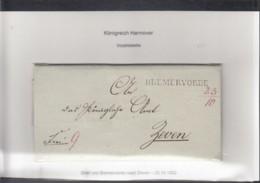 Preussen Vorphila Brief 1832 Breervörde Nach Zeven - [1] Prephilately