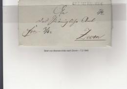 Preussen Vorphila Brief 1840 Breervörde Nach Zeven - [1] Prephilately