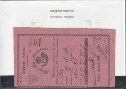 Hannover Vorphila Brief 1849 Aufgabe Schein Rosa - Hanover