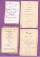 4 MENUS. 1880.1883. 1892 - Menus