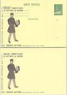 FRANCE - ENTIER POSTAL MARIANNE DE BEQUET 0.80  - 19e CONGES ACVG -  ST ETIENNE 6-8.6.1978  - DOUBLE IMPRESSION  / 2 - Postal Stamped Stationery