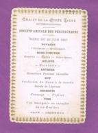 D94. FONTENAY-SOUS-BOIS.  MENU DU 20 JUIN 1887. CHALET DE LA PORTE  JAUNE. - Menus