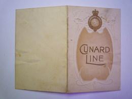 "2020 - 5173  CUNARD LINE  :  MENU  Du 6 OCT 1913  (R.M.S. ""Laconia"")     XXXX - Menus"