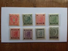 AUSTRIA 1883/1907 - LEVANTE - 8 Valori Differenti Nuovi ** + Spese Postali - Oostenrijkse Levant