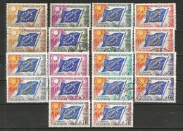 1963-71 - Yvert N° 27 à 35 ** (MNH) Et Oblitérés (o) + 5 Enveloppes - Service