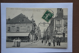 SENS-la Rue De La Republique Pavoisee-vue Prise Place Caisse D'epargne- (attention MAUVAIS ETAT-decollement Partiel) - Sens