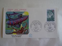 Enveloppe 1982 CROIX ROUGE  VINGT MILLE LIEUES SOUS LES MERS  H. Simoni  FDC N° 1304  PARIS 75 - Documents Of Postal Services