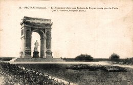 14829       PROYART   LE MONUMENT ELEVE AUX ENFANTS DE PROYAT MORTS POUR LA PATRIE - Other Municipalities