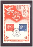"LUXEMBOURG - EUROPA CEPT 1961 - CARTE MAXIMUM  ""PEN"" - TIRAGE LIMITE A 1500 Ex. - TB - Europa-CEPT"