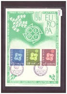 "PORTUGAL - EUROPA CEPT 1961 - CARTE MAXIMUM  ""PEN"" - TIRAGE LIMITE A 1500 Ex. - TB - Europa-CEPT"