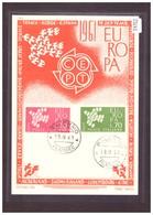 "ITALIE - EUROPA CEPT 1961 - CARTE MAXIMUM  ""PEN"" - TIRAGE LIMITE A 1500 Ex. - TB - Europa-CEPT"