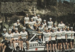 REF.B3 . CPM . CYCLISME . L'EQUIPE PEUGEOT ANNEE 70/80 - Cycling