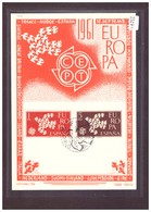 "ESPAGNE - EUROPA CEPT 1961 - CARTE MAXIMUM  ""PEN"" - TIRAGE LIMITE A 1500 Ex. - TB - Europa-CEPT"