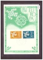 "PAYS BAS - EUROPA CEPT 1961 - CARTE MAXIMUM  ""PEN"" - TIRAGE LIMITE A 1500 Ex. - TB - Europa-CEPT"