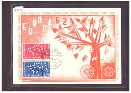 "ITALIE - EUROPA CEPT 1962 - CARTE MAXIMUM  ""PEN""  - TB - Europa-CEPT"