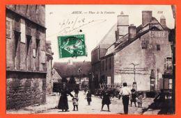 X23082 Rare AHUN 23-Creuse Place De La FONTAINE Animation Paysanne 1908 à SOUCHAL Maison Monbertin Aubusson-H.M 40 - Autres Communes