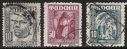 TANGER-1948-1951-ED. 154, 159 Y 164 - INDÍGENAS Y PAISAJES-USADOS - Marocco Spagnolo