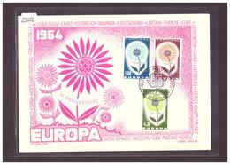 "PORTUGAL - EUROPA CEPT 1964 - CARTE MAXIMUM  ""PEN"" - TIRAGE LIMITE A 1000 Ex.  - TB - 1964"