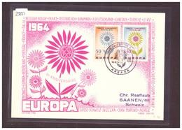 """TURQUIE - EUROPA CEPT 1964 - CARTE MAXIMUM  """"PEN"""" - TIRAGE LIMITE A 1000 Ex.  - TB - 1964"""