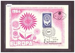 """AUTRICHE - EUROPA CEPT 1964 - CARTE MAXIMUM  """"PEN"""" - TIRAGE LIMITE A 1000 Ex.  - TB - 1964"""