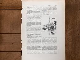 Tamise Temse 1 Pagina Gravure - Vieux Papiers