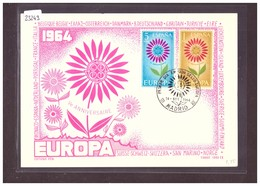 "ESPAGNE - EUROPA CEPT 1964 - CARTE MAXIMUM  ""PEN"" - TIRAGE LIMITE A 1000 Ex.  - TB - 1964"