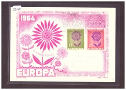 """ALLEMAGNE - EUROPA CEPT 1964 - CARTE MAXIMUM  """"PEN"""" - TIRAGE LIMITE A 1000 Ex.  - TB - 1964"""