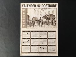 Postkalender 1970 - Postkoets - Diligence - Calendars