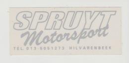 Sticker Motor: Spruyt Motorsport Hilvarenbeek (NL) - Autocollants