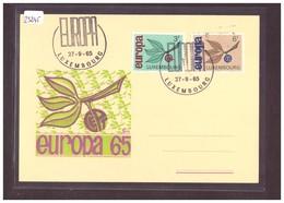 "LUXEMBOURG - EUROPA CEPT 1965 - CARTE MAXIMUM ""PEN"" - TB - Europa-CEPT"