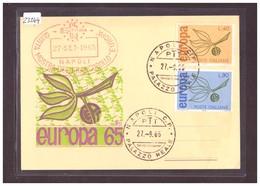 "ITALIE - EUROPA CEPT 1965 - CARTE MAXIMUM ""PEN"" - TB - Europa-CEPT"