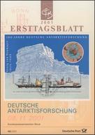 ETB 49/2001 Block: Antarktisforschung, Gauß, Polarstern - FDC: Enveloppes