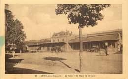 CANTAL  AURILLAC  La Gare Et La Place - Aurillac