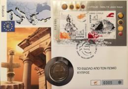 2€ Numisbrief  Zypern 2008 Beitritt - Chipre