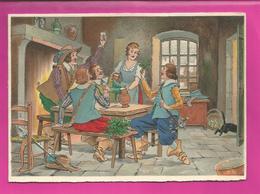 CP Double - BARRE-DAYEZ N° 12572 A Hommes Bruyant Buvant Un Coup Dans Une Taverne, Scène Populaire - Hedendaags (vanaf 1950)