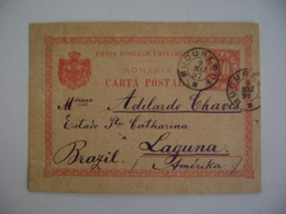 ROMANIA - ENTIRE POSTAL SHIPPED FROM BUCAREST TO LAGUNA (BRAZIL) IN 1897 IN THE STATE - Brieven En Documenten