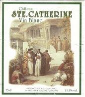 Etiquette  Vin Blanc Jordanie SAINTE CATHERINE 2006 - Zonder Classificatie