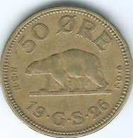 Greenland - Christian X - 1926 - 50 Øre - KM7 - Groenlandia