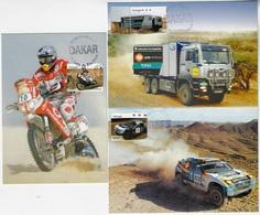 Portugal 2008 3 Maximum Postcards Sport Racing Motor Racing Dakar Truck Car Motorcycle - Automobile