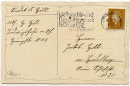 DT.REICH 1932, NR. 410, NEUJAHRSKARTE MIT MAS-STPL LUDWIGSHAFEN - Oblitérés