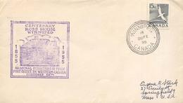 Canada Año 1955 Yvert 275 Sobre Circulado A EEUU Centenary Ross House Winipeg - 1952-.... Règne D'Elizabeth II