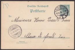 "Mi-Nr. P30I, Bedarf ""Gleiwitz"", 1894, In Die Schweiz, Nachporto - Stamped Stationery"