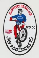 Sticker Motor: Supportersclub Jan Rooijackers Yamaha 125cc - Autocollants