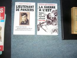 ( Guerre 39-45 Panzer Nazisme ) August Von Kageneck  2 Livres - Guerra 1939-45