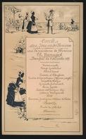 BANQUET 8 DECEMBRE 1889    19.5 X 20 CM - Menus