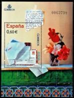 Spain 2008 Letter - Flowers Minisheet MNH - 2001-10 Ongebruikt