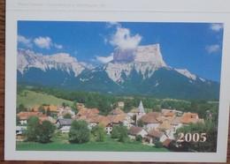 Petit Calendrier De Poche 2005 La Poste Fougerolles - Chichilianne Et Le Mont Aiguille - Calendars